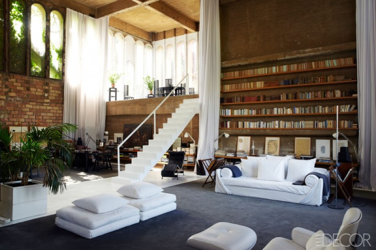Factory Turned Into a house 740x492 Abandoned Cement Factory Turned Into a Dramatic Living Space