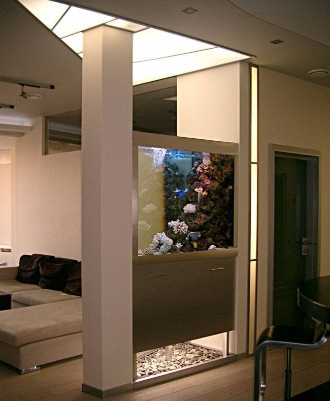 room 10 decorating ideas with aquarium