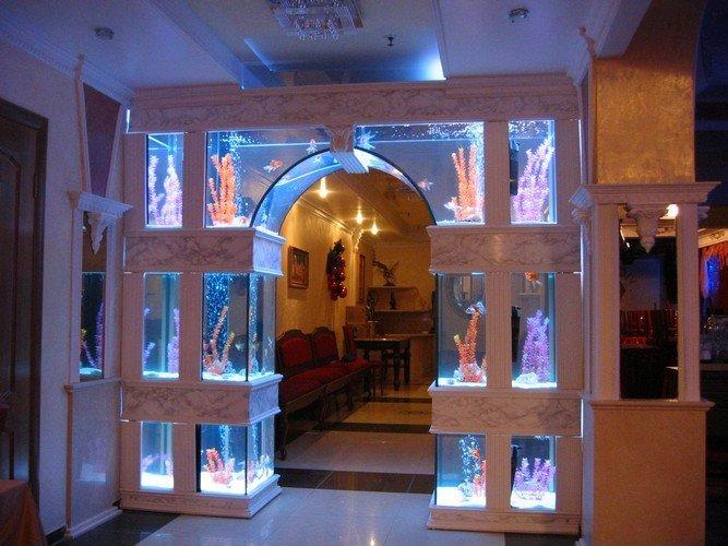 room 11 decorating ideas with aquarium