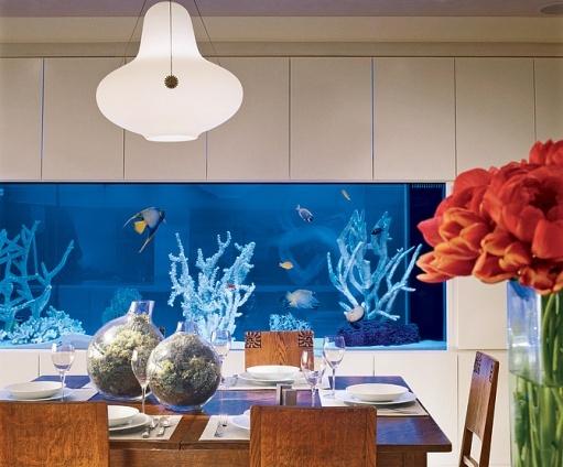 room 15 decorating ideas with aquarium