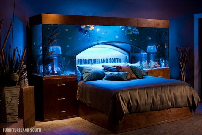 room 5 decorating ideas with aquarium