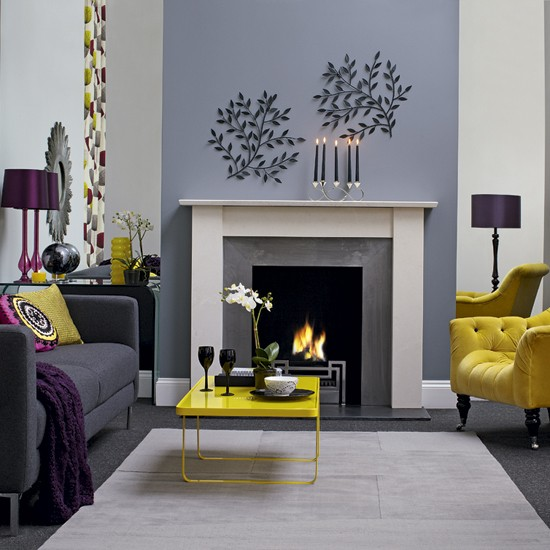 gray and yellow living room 28 designs