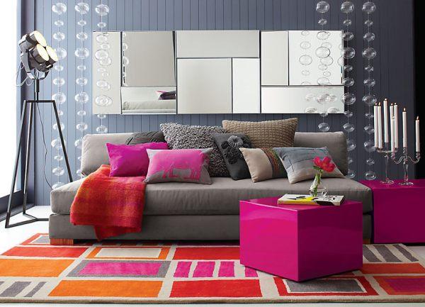 gray and phuchsia living room 69 ideas