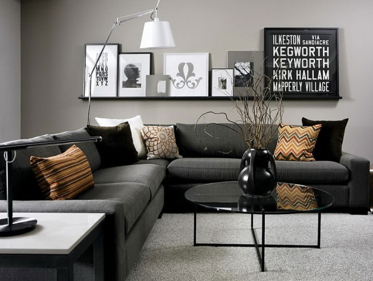 69 fabulous gray living room designs to inspire you for Living room ideas grey