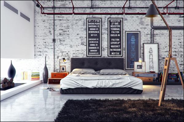 industrial bedroom design 10
