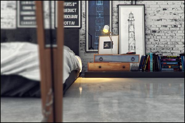 industrial bedroom design 11