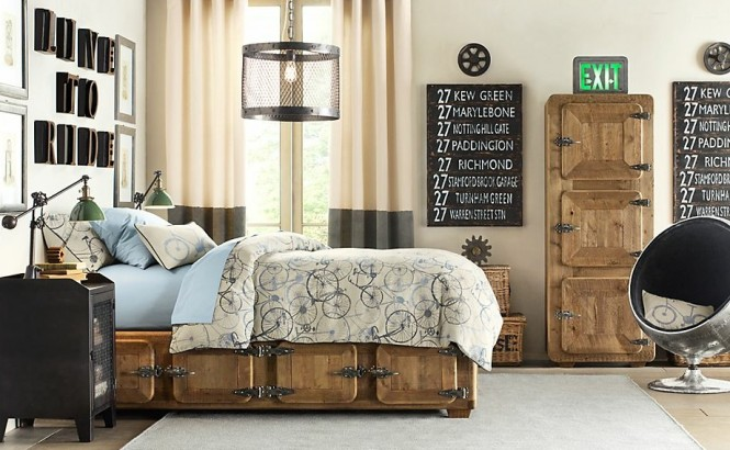 industrial bedroom design 17