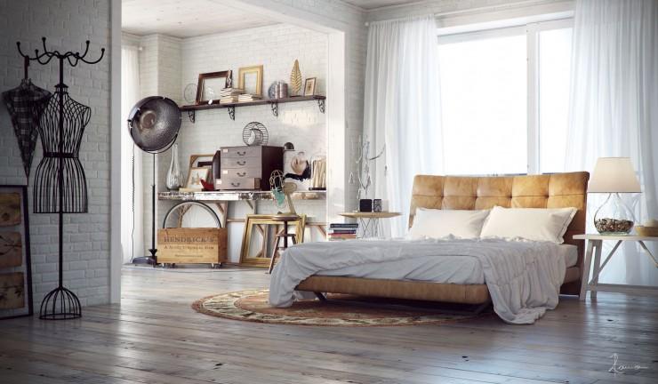 industrial bedroom design 6