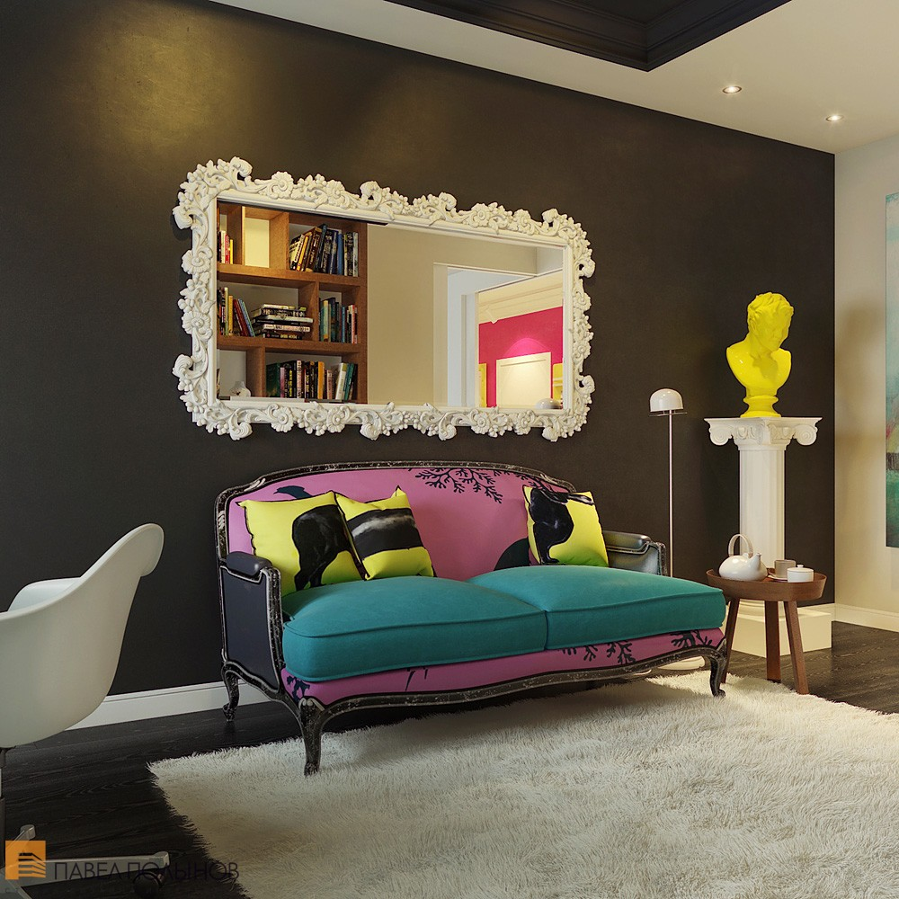Modern Pop Art Style Apartment: Bright And Cheerful Interior Design By Pavel Polinov