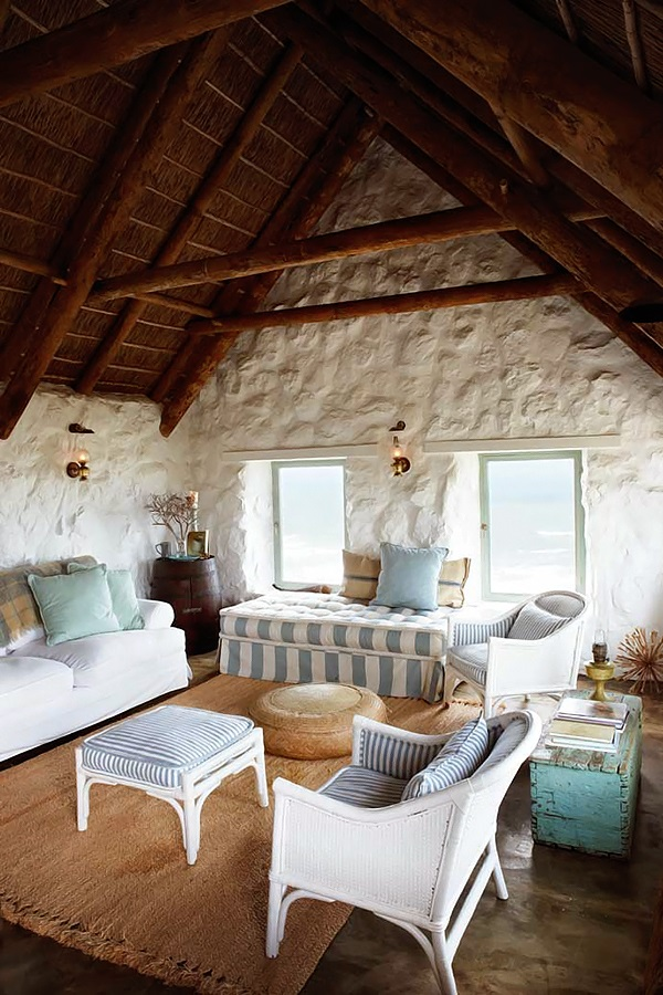 simple Stylish Stone Cottage interiors