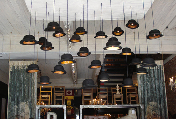 Jeeves and Wooster Hat Pendant Lights 2