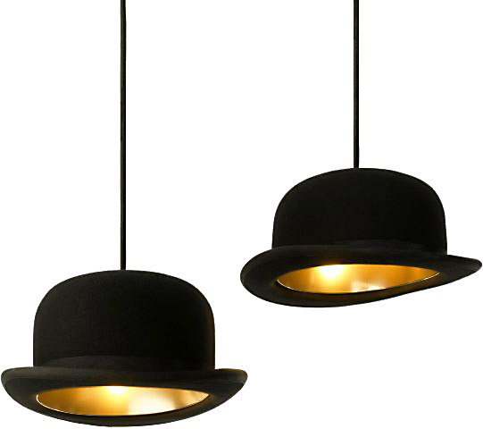Jeeves and Wooster Hat Pendant Lights 3