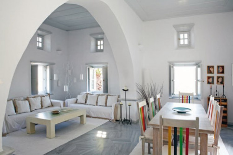 beautiful house greek island interior