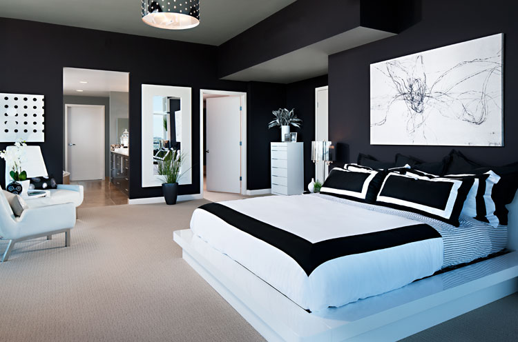 10 amazing black and white bedrooms decoholic - Decoration de maison ...