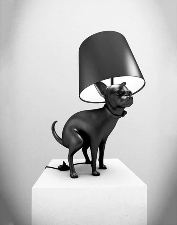 Unique Pooping Black Dog Lamps by Whatshisname 2