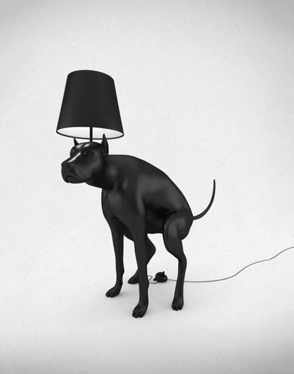Unique Pooping Black Dog Lamps by Whatshisname 4